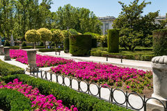 Jardins reais em Madrid Spain imagem de stock royalty free