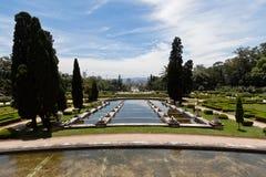 Jardins Sao Paulo do palácio de Ipiranga Imagem de Stock