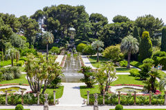 Jardins verdes de Casa de campo Ephrussi de Rothschild Fotos de Stock Royalty Free