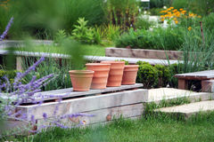 Jardín de la terraza Fotografía de archivo
