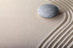 Jardín del balneario de la meditación de la piedra de la arena del zen Foto de archivo libre de regalías