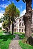Jardín del palacio de Dolma Bahche, Estambul Fotografía de archivo