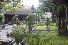Jardín del templo de Den Quan Thanh Foto de archivo libre de regalías
