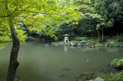 Jardín japonés. Imagenes de archivo