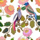 Jardín japonés Pájaros y flores Foto de archivo libre de regalías