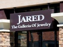 Jared Jewelry Store Exterior und Logo Lizenzfreie Stockfotografie