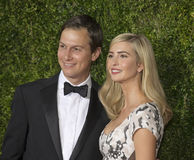 Jared Kushner och Ivanka Trump på Tony Awards 2015 arkivbilder
