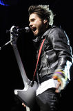 Jared Leto of 30 Seconds to Mars performing. Royalty Free Stock Photography