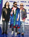 Jared Leto, Shannon Leto e Tomo Milicevic di trenta secondi a Marte Fotografie Stock Libere da Diritti