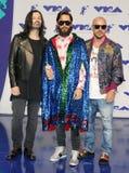 Jared Leto, Shannon Leto et Tomo Milicevic de trente secondes à Mars Photo stock