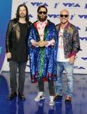 Jared Leto, Shannon Leto en Tomo Milicevic van Dertig Seconden aan Mars Stock Foto