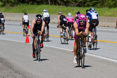 Jared Woodford in the Coeur d' Alene Ironman cycling event Stock Photo