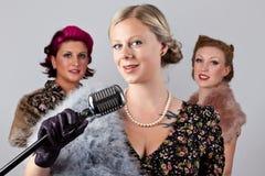 jaren '40 die groep zingen Royalty-vrije Stock Afbeeldingen