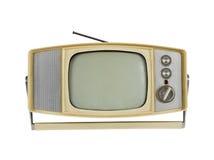 jaren '60 Draagbare Televisie met de Tribune van het Handvat stock afbeeldingen
