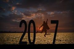 Jaren 2017 achtergrond Royalty-vrije Stock Foto