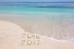 Jaren 2016 en 2017 stock foto's