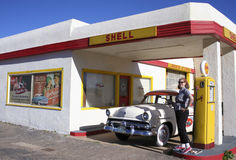 Jaren '50 Ford Station Wagon, Lowell, Arizona Royalty-vrije Stock Afbeeldingen