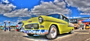 jaren '50 klassieke Amerikaanse Chevy Stock Foto
