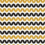 jaren '60stijl Dot Stripes Seamless Vector Pattern royalty-vrije illustratie