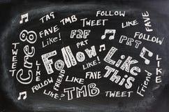 Jargão social dos media Fotografia de Stock