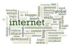 Jargon d'Internet Image libre de droits