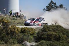 Jari Matti Latvala, Toyota Gazoo Racing WRT ,Portugal Rally 2017 Royalty Free Stock Photo