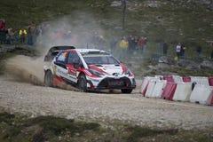 Jari Matti Latvala, Toyota Gazoo Racing WRT ,Portugal Rally 2017 Royalty Free Stock Photos