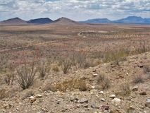 Jarilla Mountains near Orogrande, New Mexico. An old homestead once sat here in the remote Jarilla Mountains, an area dotted with old mines near Orogrande, New stock photography