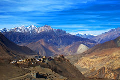 Jarkot village, Nepal Stock Image