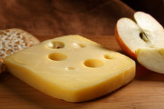 Jarlsberg cheese Stock Images
