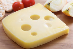 Jarlsberg cheese Stock Image
