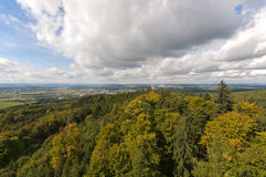 Jarnik lookout view on Pisek Stock Photography