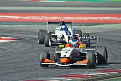 Eurocup Formula Renault 2.0 2017 Barcelona circuit Royalty Free Stock Photography