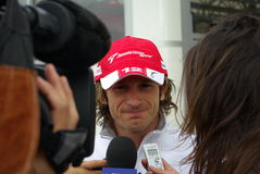 Jarno Trulli Interview Lizenzfreie Stockfotos
