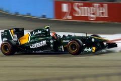 Jarno Trulli, Lotus in Singapore F1 Stock Images