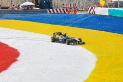 Jarno Trulli (Lotus van het Team) bij ras van GP Formule 1 Royalty-vrije Stock Foto's