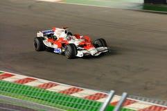 Jarno Trulli's Toyota in Singapore F1 2008 Royalty Free Stock Image