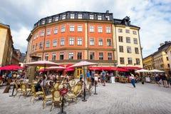 Jarntorget square. Stockholm, Sweden Stock Images