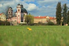 Jaromerice nad Rokytnou. The baroque Jaromerice nad Rokytnou chateau, Czech Republic Stock Photos