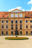 Jaromerice Palace in Southern Moravia, Czech Republic. Jaromerice Palace, cathedral and gardens in Southern Moravia, Czech Republic Royalty Free Stock Photo