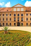 Jaromerice Palace in Southern Moravia, Czech Republic. Jaromerice Palace, cathedral and gardens in Southern Moravia, Czech Republic Royalty Free Stock Image