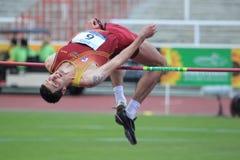 Jaroslav Baba - high jump Stock Photography