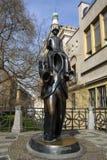 Jaroslav Rona's bronze statue of Franz Kafka Royalty Free Stock Photos