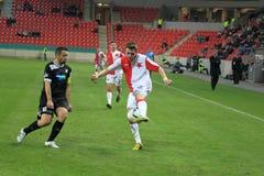 Jaroslav Zmrhal and Pavel Horvath - czech football Royalty Free Stock Photos