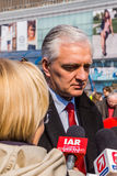 Jaroslaw Gowin, capo del partito della destra Polska Razem Fotografie Stock