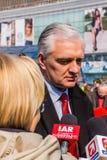 Jaroslaw Gowin ledare av det höger- partiet Polska Razem Arkivfoton