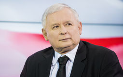 Jaroslaw Kaczynski en Pologne Photos libres de droits