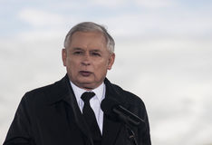 Jaroslaw Kaczynski  Former Prime Minister of Poland. Gryfino, Poland-May 14, 2014:Jaroslaw Kaczynski, former polish prime minister, leader of right-wing Stock Photography