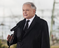 Jaroslaw Kaczynski. Gryfino, Poland-May 14, 2014:Portrait of former polish prime minister Jaroslaw Kaczynski, leader of right-wing, conservative party Law and Stock Images