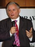 JAROSLAW KACZYNSKI - PREMIER MINISTRE DE LA POLOGNE. Image stock